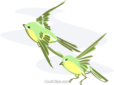 birds Royalty Free Vector Clip Art illustration anim2015
