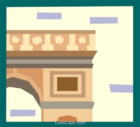 European architecture Royalty Free Vector Clip Art illustration arch0484