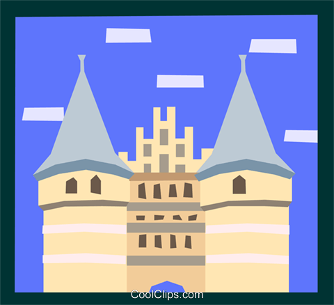 European architecture Royalty Free Vector Clip Art illustration arch0486