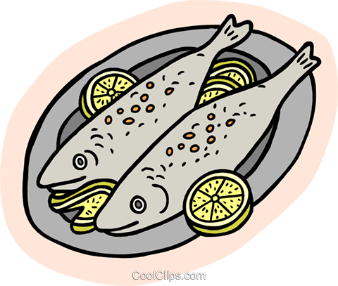 Food and dining/fish dinner Royalty Free Vector Clip Art illustration food1099
