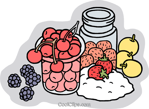 Food and dining/making preservatives Royalty Free Vector Clip Art illustration food1103