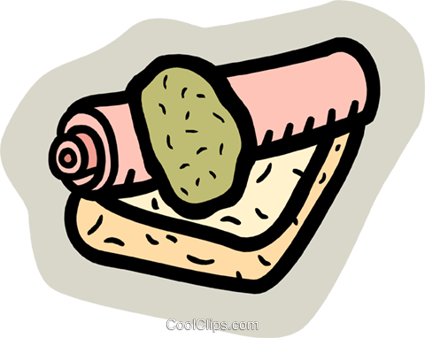 rolling pin Royalty Free Vector Clip Art illustration food1106