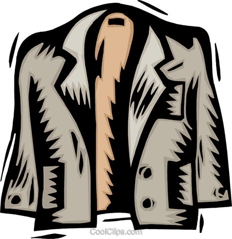 jacket Royalty Free Vector Clip Art illustration hous1297