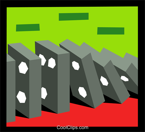 dominoes Royalty Free Vector Clip Art illustration hous1319
