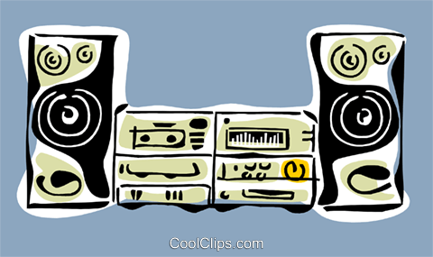 stereo system Royalty Free Vector Clip Art illustration hous1330
