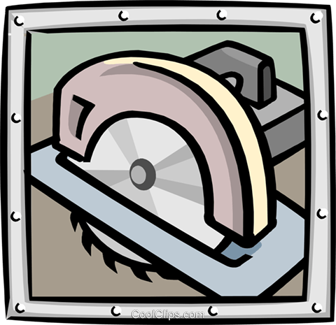 circular saw Royalty Free Vector Clip Art illustration indu0940
