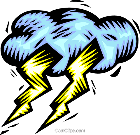 Weather/lightning Royalty Free Vector Clip Art illustration natu0884