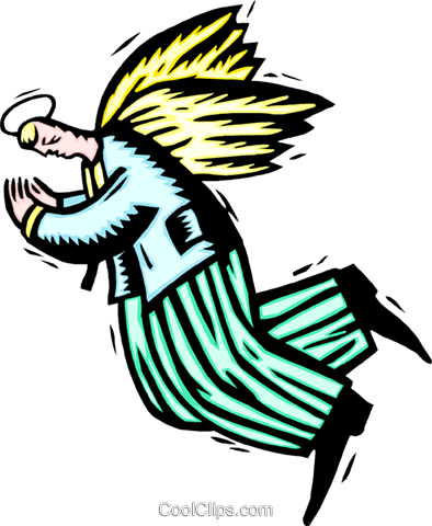business angel Royalty Free Vector Clip Art illustration peop3287