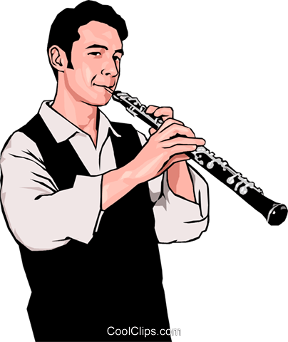 clarinetist Royalty Free Vector Clip Art illustration peop3303