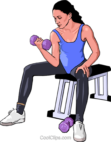health care exercise Royalty Free Vector Clip Art illustration peop3310