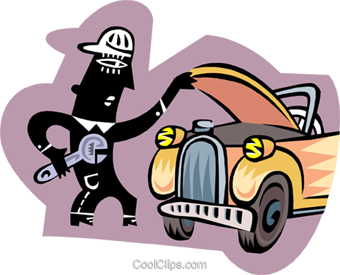 mechanic Royalty Free Vector Clip Art illustration peop3324