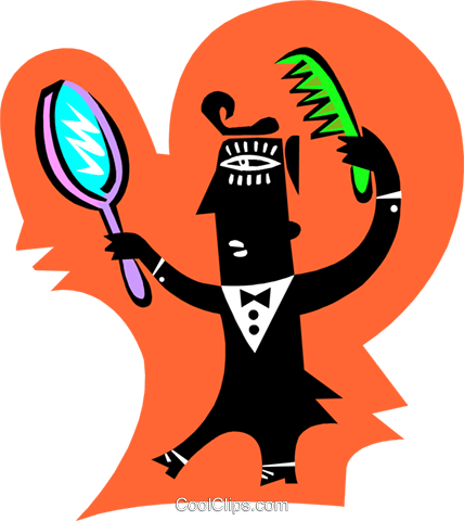 personal grooming Royalty Free Vector Clip Art illustration peop3326