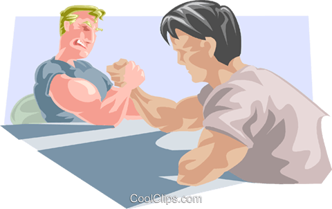 arm wrestlers Royalty Free Vector Clip Art illustration peop3330