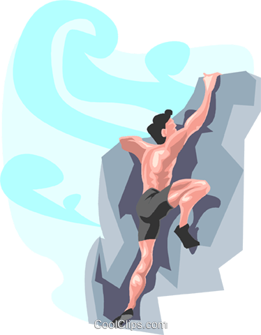 rock climber Royalty Free Vector Clip Art illustration peop3335