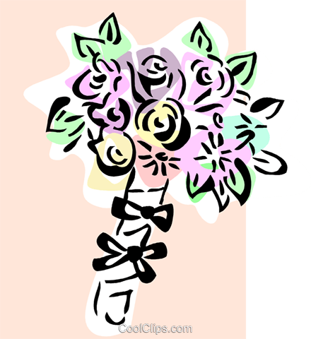 Bouquet of flowers Royalty Free Vector Clip Art illustration spec0312