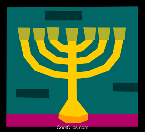 menorah Royalty Free Vector Clip Art illustration spec0316
