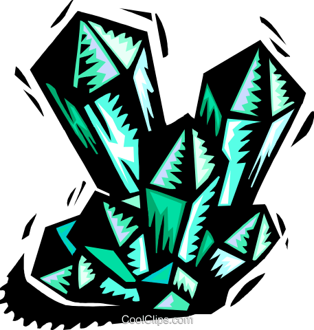 Crystalline shapes Royalty Free Vector Clip Art illustration symb0094