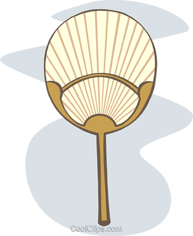 oriental fan Royalty Free Vector Clip Art illustration symb0105