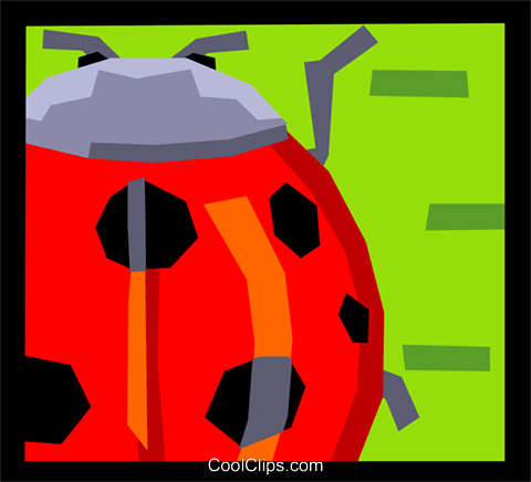 ladybug Royalty Free Vector Clip Art illustration anim2019