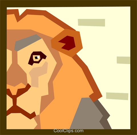 lion Royalty Free Vector Clip Art illustration anim2020