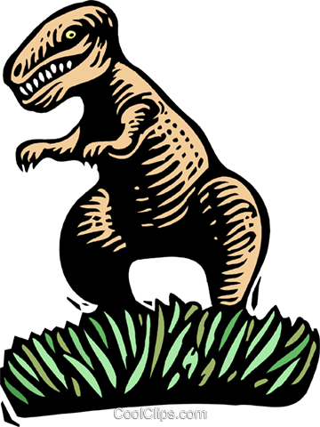 Woodcut Tyrannosaurus Royalty Free Vector Clip Art illustration anim2025