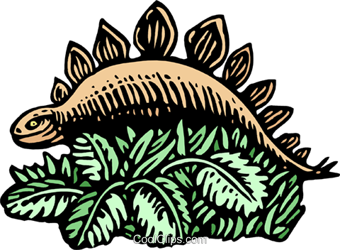 woodcut dinosaur Royalty Free Vector Clip Art illustration anim2026