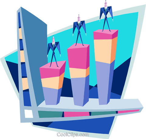 Business vertical markets Royalty Free Vector Clip Art illustration busi1606