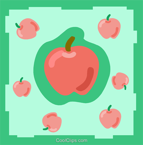 Apples Royalty Free Vector Clip Art illustration divi0095