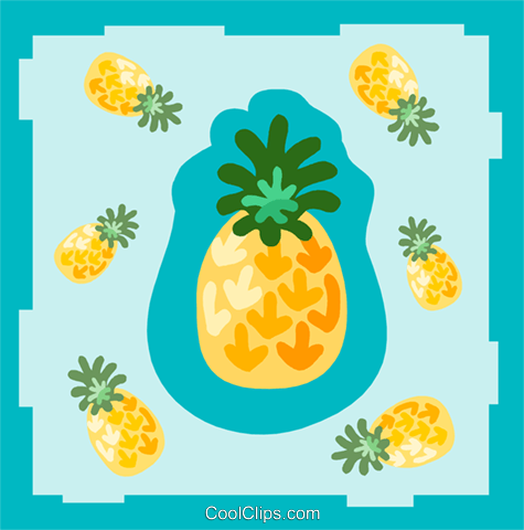 pineapple Royalty Free Vector Clip Art illustration divi0099