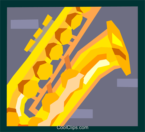 The Arts/Music/Sax Royalty Free Vector Clip Art illustration ente0126