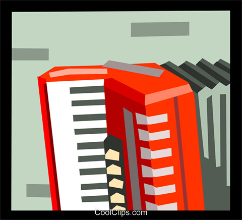 The Arts/Music/Accordion Royalty Free Vector Clip Art illustration ente0128