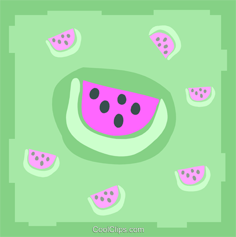 watermelons Royalty Free Vector Clip Art illustration food1119