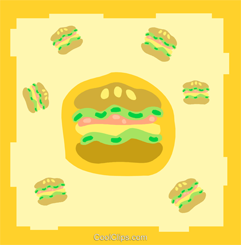 burgers Royalty Free Vector Clip Art illustration food1122