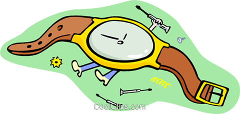 metaphor/killing time Royalty Free Vector Clip Art illustration hous1333