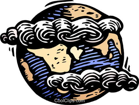 Clouds over planet earth Royalty Free Vector Clip Art illustration natu0900