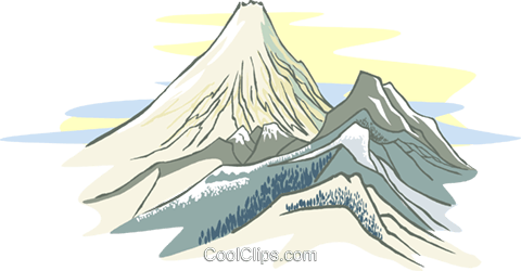 Mountain range Royalty Free Vector Clip Art illustration natu0903