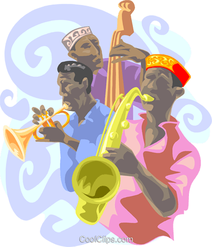 jazz musicians Royalty Free Vector Clip Art illustration peop3339