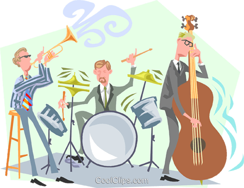 Jazz musicians Royalty Free Vector Clip Art illustration peop3344