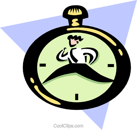 race against time Royalty Free Vector Clip Art illustration peop3345