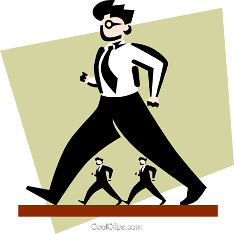 businessmen walking Royalty Free Vector Clip Art illustration peop3346