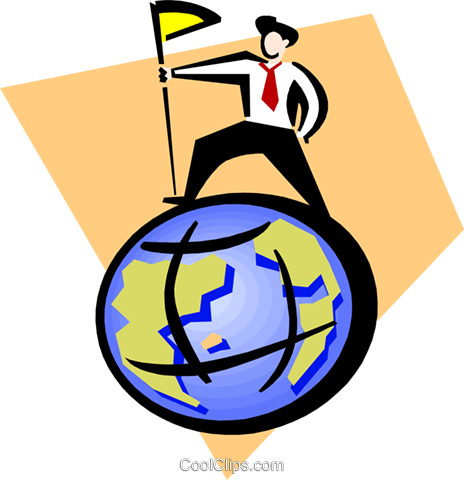on top of the world Royalty Free Vector Clip Art illustration peop3349