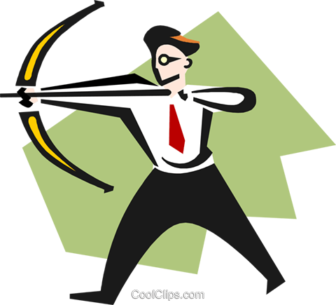 aiming high Royalty Free Vector Clip Art illustration peop3350