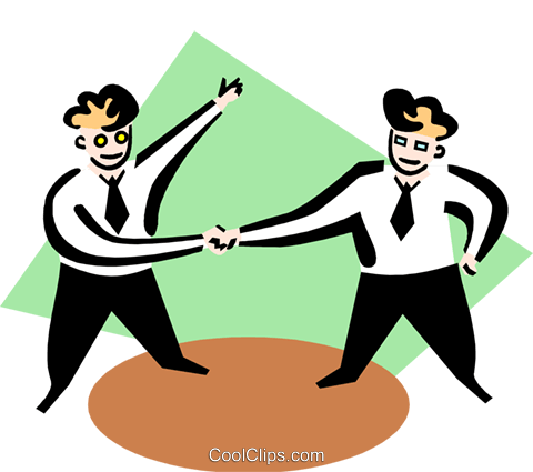 Business cooperation Royalty Free Vector Clip Art illustration peop3356