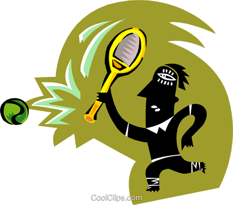 tennis player Royalty Free Vector Clip Art illustration peop3360
