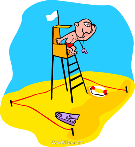 life guard Royalty Free Vector Clip Art illustration peop3374