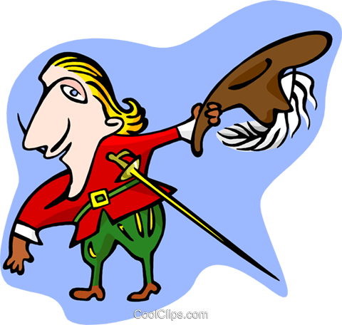 musketeer Royalty Free Vector Clip Art illustration peop3383