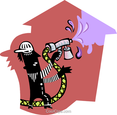 house painter Royalty Free Vector Clip Art illustration peop3384