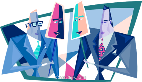 two-faced businessmen Royalty Free Vector Clip Art illustration peop3394