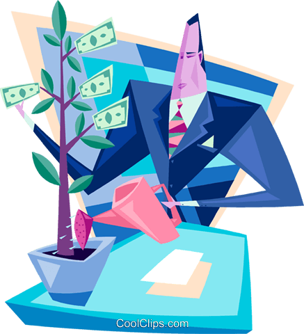 money tree Royalty Free Vector Clip Art illustration peop3395