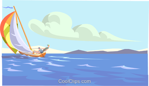 sailing Royalty Free Vector Clip Art illustration spor0386